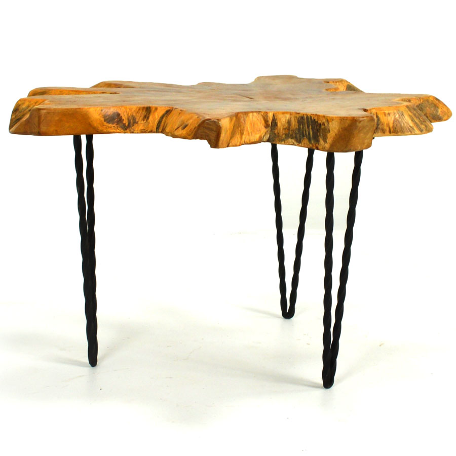 Ris 589 Teak Live Edge End Table Home Source Furniture