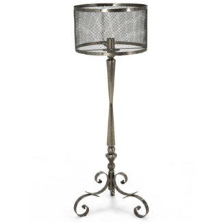 Warwick Iron Floor Lamp, Brushed Nickel