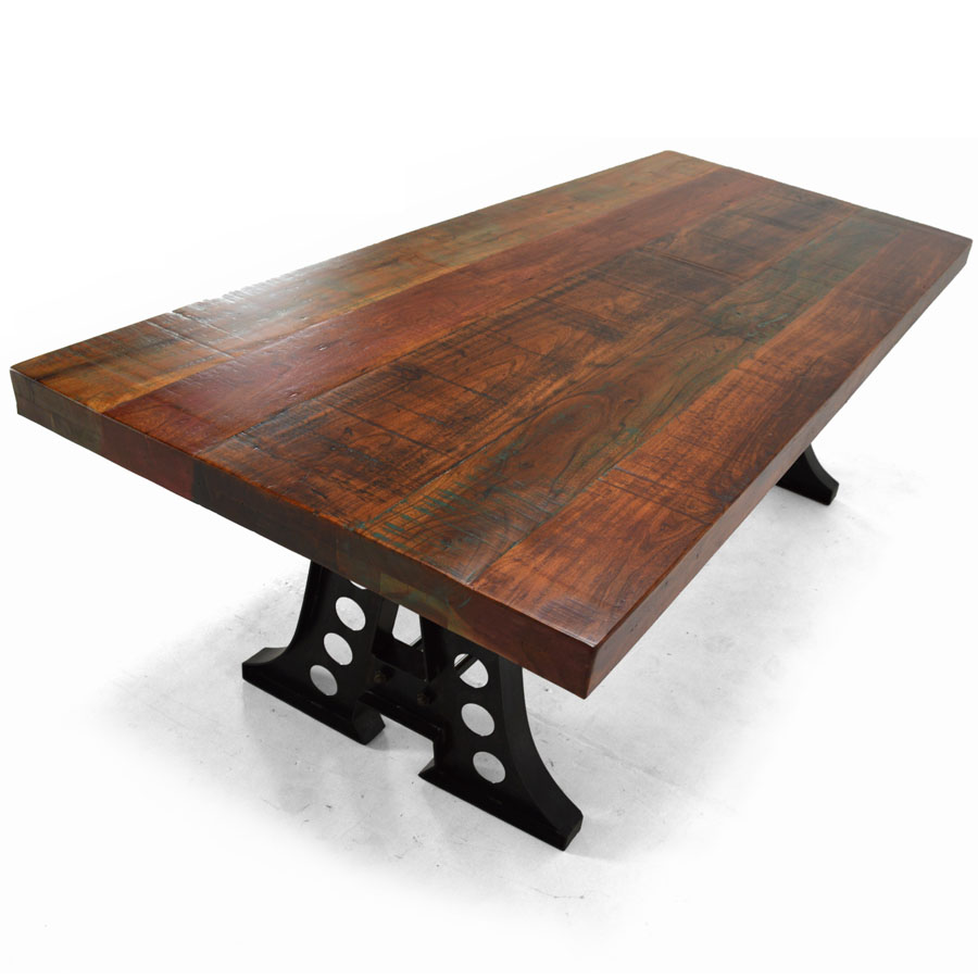 Columbus 91 rectangular dining table reclaimed wood for Reclaimed wood sources