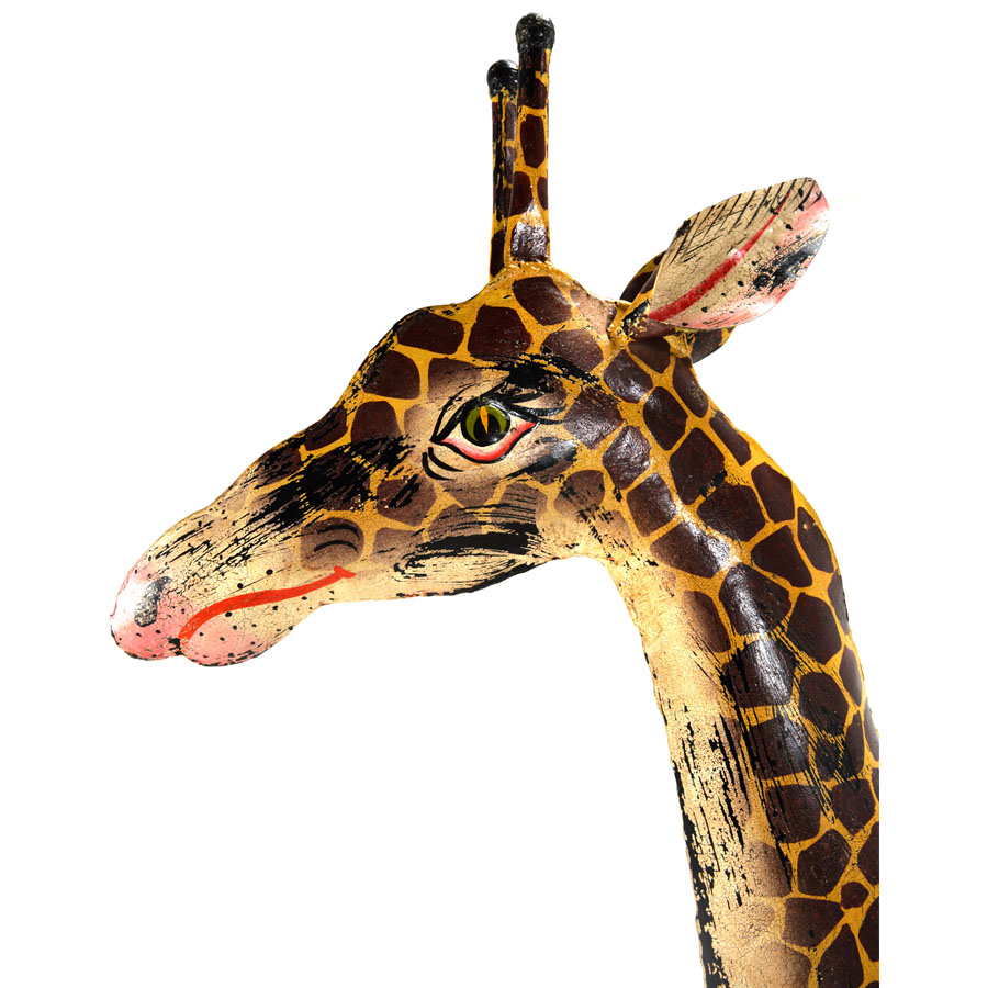Msi 385 Hand Painted Iron Giraffe 79 Quot Tall Home Source