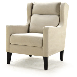 Canyon Upholstered Arm Chair, Claire Putty