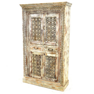 MSI 451 Cabinet with Hand Carving, Worn Grey