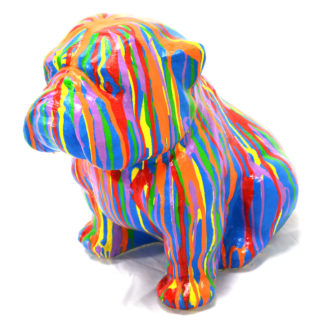 English Bulldog 16″ Tall Multi-Colored, RIS 744