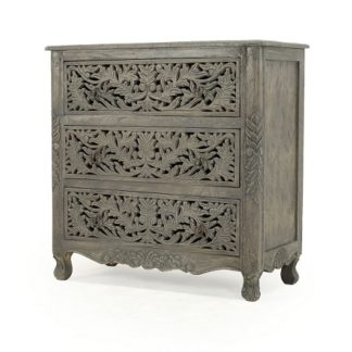 Arcadia Three Drawer Chest, Weathered Grey